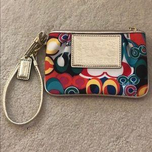 Coach colorful wallet/wristlet
